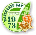 Cornwall Watergate Bay 1973 Surfer Surfing Design Vinyl Car sticker decal 97x95mm